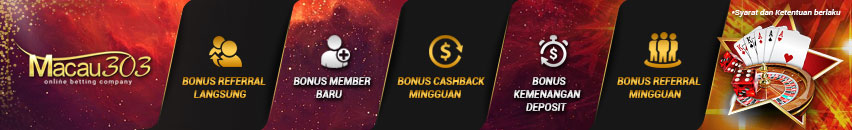 bonus freebet 100% member baru judi live casino online - macau303.id