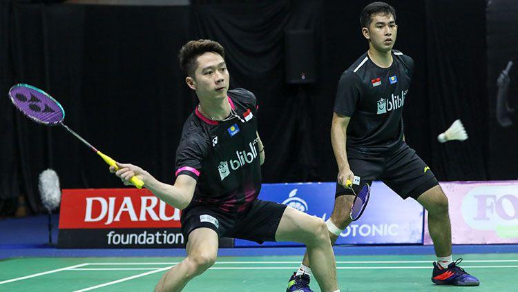 Fajar/Rian Tekuk Kevin Sanjaya/Marcus Gideon