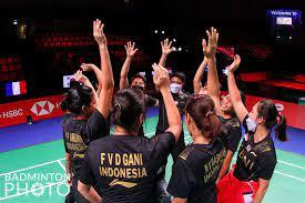 Tanpa Greysia Polii, Tim Muda Indonesia Tundukkan Prancis di Grup A Piala Uber 2020